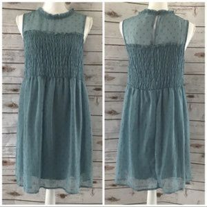 Xhilaration Amazonite Lurex Sleeveless Dress Blue